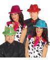Glimmende rode gangster hoed voor volwassenen