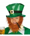 Glimmende st patricks day hoed