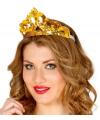 Gouden prinsessen kroon met pailletten