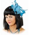 Haarsieraad met blauwe bloem