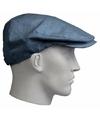 Linnen flat cap blauw voor heren