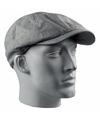 Linnen flat cap licht grijs voor heren