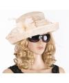 Luxe champagne koninginnen hoed laurentien