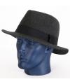 Luxe grijze vilten hoed voor volwassenen