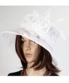 Luxe witte koninginnen hoed irene