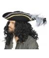 Luxe zwarte hoed met veren