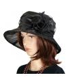 Luxe zwarte koninginnen hoed irene