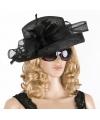 Luxe zwarte koninginnen hoed laurentien