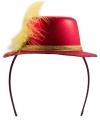 Metallic rood mini hoedje