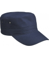 Militairy look rebel cap navy blauw