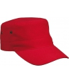 Militairy look rebel cap rood