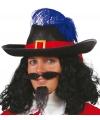 Musketiers hoed met veer volwassenen