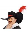 Musketiers hoed met veer