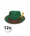 Oktoberfest 12 tiroler hoedjes groen