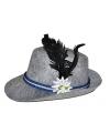 Oktoberfest alpen hoed met veer en bloem