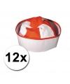 Pakket met 12 rode matrozen hoedjes icm zeemans tattoos