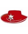 Rode cowboyhoed voor kinderen