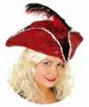 Rode piraten driesteek voor dames
