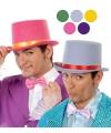 Roze hoge hoed van vilt voor volwassenen