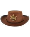 Stoere bruine cowboy hoed voor kinderen