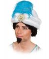 Sultan hoed met veer volwassenen