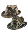 Trilby hoed camouflage army bruin