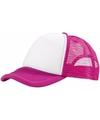 Truckers cap roze wit