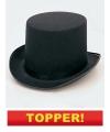 Voordelige hoge hoed zwart