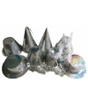 Zilveren feesthoedjes glitter 50 stuks