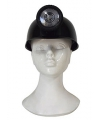 Zwarte mijnwerker helm voor volwassenen