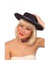 Zwarte spaanse hoed met bies