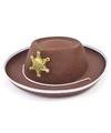 Bruine sheriff hoed voor kinderen