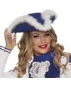 Dansmarieke hoed blauw wit voor dames