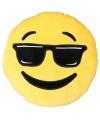 Emoticon kussen cool 30 cm