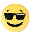 Emoticon kussen cool 50 cm