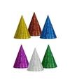 Gekleurde feesthoedjes glitter 20 stuks