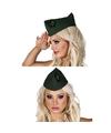 Groen soldaten hoedje voor dames
