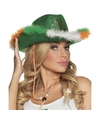 Groene ierse cowboyhoed voor dames