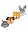 Huisdieren maskers van karton