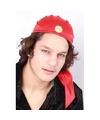 Zigeuner hoedje rood voor volwassenen