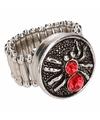 Rode spin chunk ring voor volwassenen