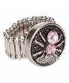 Roze spin chunk ring voor volwassenen
