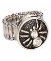 Zilveren spin chunk ring voor volwassenen