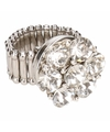 Zilveren steentjes chunk ring voor volwassenen