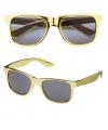 Pimp zonnebril in het goud