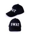 Zwarte baseball cap swat voor volwassenen